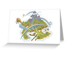 Off to Neverland!  Greeting Card