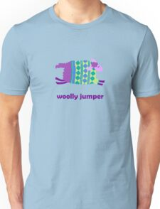 Woolly jumper! in green and blue Unisex T-Shirt