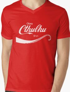 Obey Cthulhu Mens V-Neck T-Shirt
