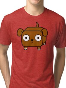 Pit Bull Loaf - Red Pitbull with Floppy Ears Tri-blend T-Shirt