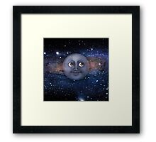The moon in space Framed Print