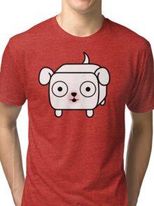 Pit Bull Loaf - White Pitbull with Floppy Ears Tri-blend T-Shirt