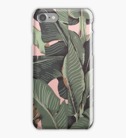 Banana Leaf in pink iPhone Case/Skin