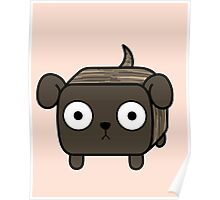 Pit Bull Loaf - Brindle Pitbull with Floppy Ears Poster