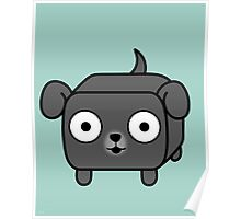 Pit Bull Loaf - Blue Pitbull with Floppy Ears Poster