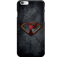 """The Letter P in the Style of """"Man of Steel"""" iPhone Case/Skin"""