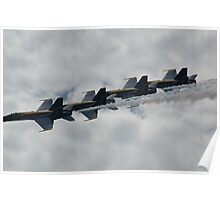 Blue Angles Formation Poster