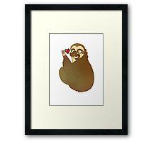 Sloth Love Framed Print