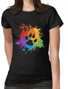 Pride Splash - Furry Pride Womens Fitted T-Shirt