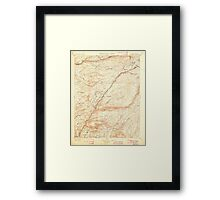 USGS TOPO Map California CA Big Trees 299217 1901 125000 geo Framed Print