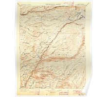 USGS TOPO Map California CA Big Trees 299217 1901 125000 geo Poster