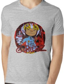 Gorillaz G Sides Mens V-Neck T-Shirt