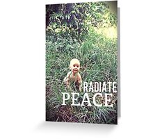 Radiate PEACE - Baby Noah Greeting Card