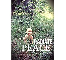 Radiate PEACE - Baby Noah Photographic Print