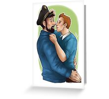 Tintin et le Capitaine Greeting Card