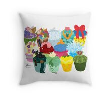 The Princess Cupcake Collection II  Throw Pillow
