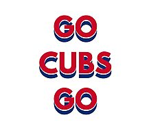 Go Cubs Go Chicago Cubs Photographic Print