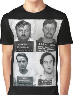 Serial Killers Mugshotc Graphic T-Shirt