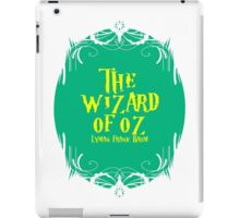 The wizard of oz! iPad Case/Skin