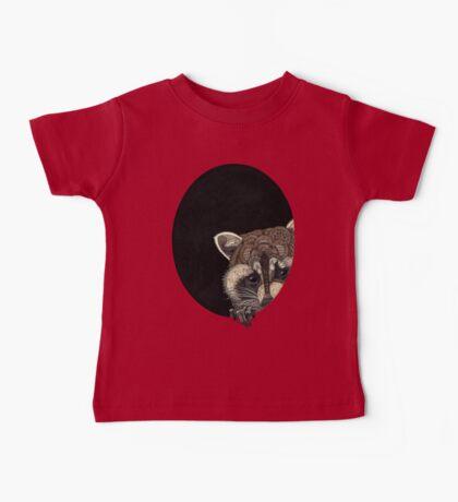 Socially Anxious Raccoon Baby Tee