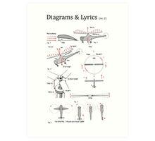 Our Song - Diagrams & Lyrics ( no. 2) Art Print