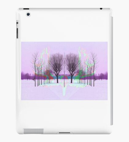 Acid Moose with Winter Trees iPad Case/Skin