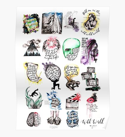 Wild World Art Collection Poster