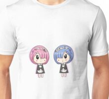 chibi rem and ram Unisex T-Shirt