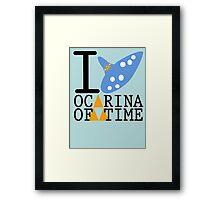 The legend of Zelda - Love Ocarina of Time Framed Print