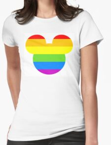 Pride Mouse Womens Fitted T-Shirt
