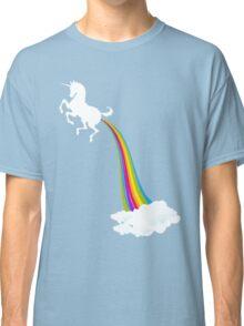Unicorn Farting Rainbow Classic T-Shirt