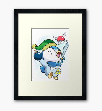 Pokemon Link Piplup Framed Print