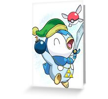 Pokemon Link Piplup Greeting Card