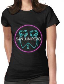San Junipero Logo Womens Fitted T-Shirt