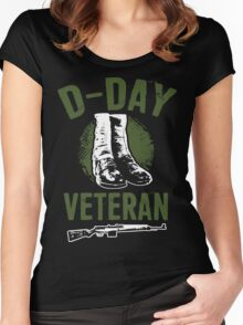 D- Day  Veteran - Perfect gift for veterans Women's Fitted Scoop T-Shirt