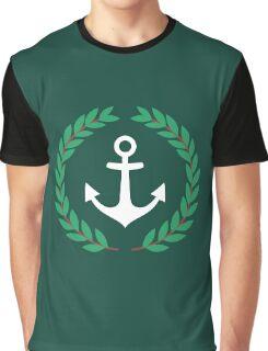 Pablo Escobar - Nautical Laurel Wreath With Anchor Graphic T-Shirt
