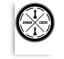 human chess Canvas Print