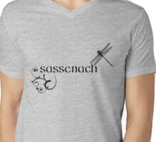 OUTLANDER Sassenach Design Mens V-Neck T-Shirt