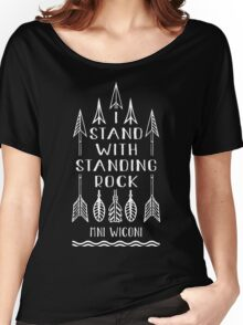 I Stand With Standing Rock, Water Is Life, NODAPL Women's Relaxed Fit T-Shirt