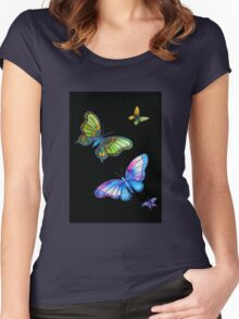 Butterfly Magic Women's Fitted Scoop T-Shirt