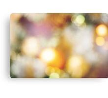Background with Blurred Christmas Lights Canvas Print