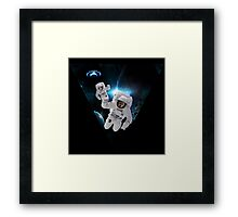 Cats Lost in Space Framed Print