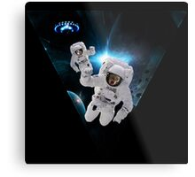 Cats Lost in Space Metal Print