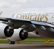 Emirates A380 at Manchester Airport by PlaneMad1997