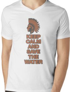 Keep Calm And Save The Water, Standing Rock NoDAPL Mens V-Neck T-Shirt