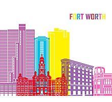 Fort Worth skyline pop Photographic Print