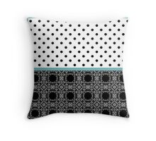 A combined decorative pattern .  Throw Pillow