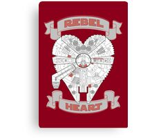 Rebel Heart - red Canvas Print
