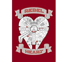 Rebel Heart - red Photographic Print