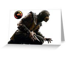 Mortal Kombat X - Scorpion Attack Greeting Card